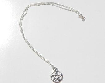 Pentagram Necklace, Pentagram Choker, Choker, Pentacle Necklace, Wiccan Necklace, Pagan Necklace, Pentagram Charm, Spiritual Jewelry