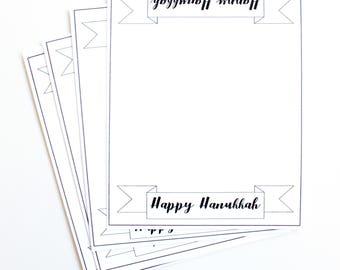 Happy Hanukkah Place Cards