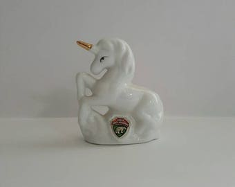 Vintage Unicorn Toothpick Holder, Tennessee Souvenir Unicorn Figurine
