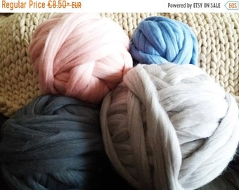 SALE Chunky yarn, Giant yarn, merino wool, super big bulky, arm knitting, felting blanket, Giant blanket, Chunky Throw, diy, yarn for big bl