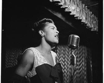 Billie Holiday - New York City, ca.1947 - William Gottlieb - Photo - Portrait - Art - Print - Vintage - Music - Jazz - Photograph - NYC