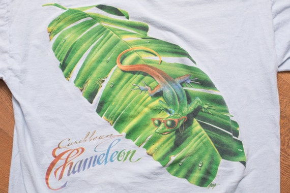 Caribbean Soul: Jimmy Buffett's Caribbean Soul T-Shirt Chameleon Graphic