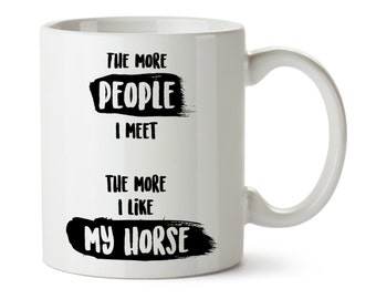 Horse Mug / Horse Coffee Tea Cup / Equestrian Gifts / Horse Lover / Horse Owner / Gift for Horse Lover / Horse Gifts / Animal Mug / Cafe