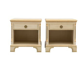 Gustavian bedside tables (pair)