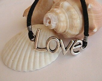 Silver Love Charm Bracelet