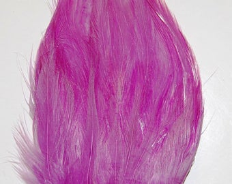 3 pcs HACKLE Feather Pads - LILAC