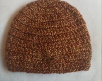 half price skull hat in golden brown