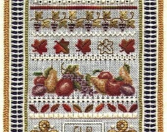 Miniature Autumn Sampler - Teresa Wentzler Cross Stitch Pattern - Fall Cross Stitch Pattern - Autumn Cross Stitch