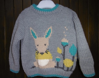 baby sweater and child boy pattern hand knitted mouse