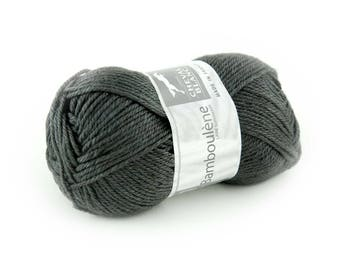 "Ball of yarn to knit white horse ""BAMBOULENE"" charcoal 034"