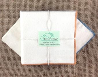 Pack of 8 Hankettes Organic Cotton Handkerchiefs