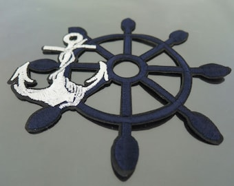 Large Anchor Iron on Patches - Iron on Patches Anchors Patch Applique Embroidered Patch Sew On Patch