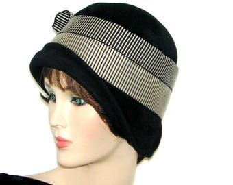 Miss Fisher Custom-made 1920's Vintage cloche Gatsby Downton Abbey hat