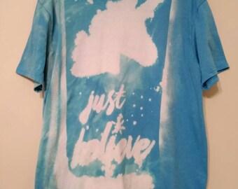 Bleached XL just believe unicorn shirt - read description