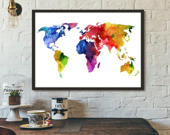 World map poster etsy world map poster printable art print scandinavian print wall art gumiabroncs Gallery