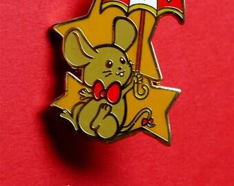 Tip the Dormouse from Alice in Wonderland Enamel Pin