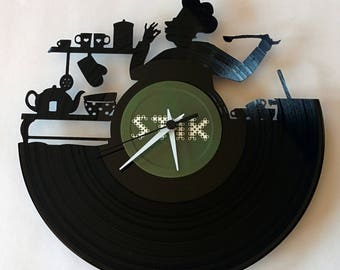 Vinyl Record Clock (Chef)