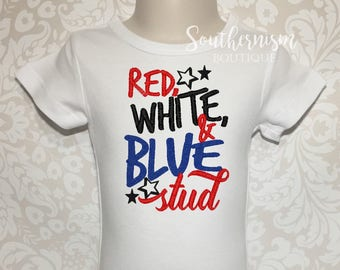 4th of July Shirt, Boys 4th of July Shirt, Fourth of July shirt, Patriotic Shirt, stud, patriotic shirt, personalized 4th of july, shirt