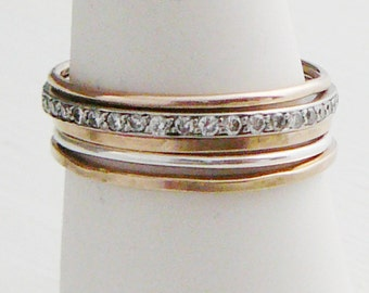 thin skinny stacking ring 14 kt Gold Filled Ring, 1 Square stacking skinnies midi knuckle ring