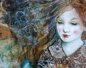 ACEO art reproduction by Maria Pace-Wynters- I Am Lost In Dreams Of You
