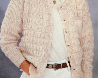 Knitting Pattern Ladies/Women's DK Cardigan Size 32-38in 81-97cm