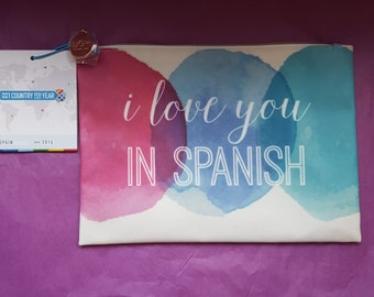 I Love You In Spanish Pouch