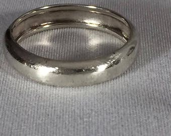 Vintage Thick Sterling Silver Band Ring 10.5
