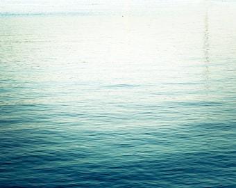 nautical decor abstract photography ocean water ripples wall decor 8x10 24x36 fine art photography waves abstract art teal aqua blue beach
