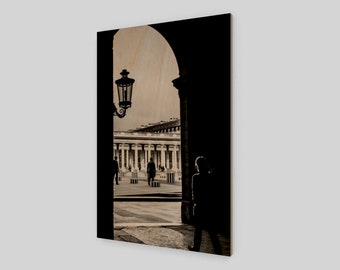 Palais-Royal Paris Wood Print, 1:50 Limited Edition / home decor / decoration / photo / photography / black and white /.