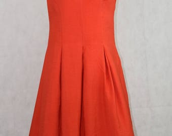 Vintage sleeveless orange dress, vintage clothing, vintage, clothing, women's, dresses for women, dress, dresses, women's clothing, kawaii