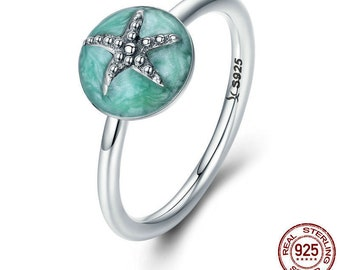 Star sea fantasy - woman - 925 sterling silver ring