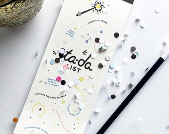 Ta Da! List Stocking Stuffer, To-do List, Magical Stationery, Every Day To Do List, Note Pad, Business Check List, Office Organization