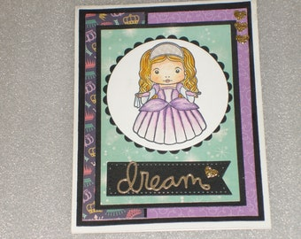 Handmade Princess Dream Magical Day Birthday Card Greeting Card Thinking of You Card