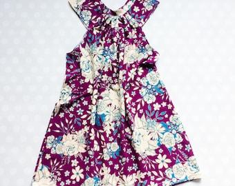 Floral Dress - Girls Dresses - Purple Dress - Baby Girl Easter Dress - Girls Dresses - Easter Dresses for Girls - Handmade Dresses