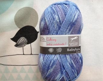 WOOL BABYLUX Naval COLOR - white horse