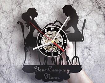 Nail Hair Salon Clock Decor, Summer Opening Girls Beauty, Wedding Shower Decoration, Elderly Rooms Brunch Engagement Reception