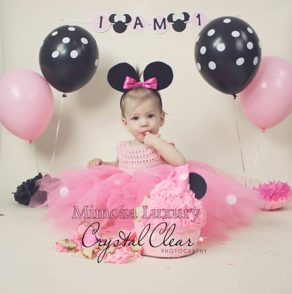 Minnie mouse dress, 1st birthday dress, girl infant dress, baby girl minnie dress, minnie party dress, girl birthday dress, pageant dress