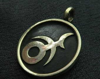 Bronze Slaanesh pendant
