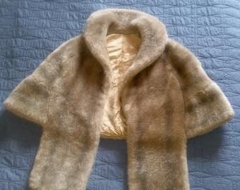 Vintage Faux Fur Stole