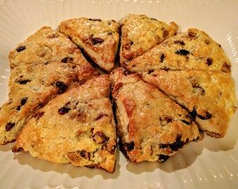 Pecan and Cranberry Scones - 8 Big Scones