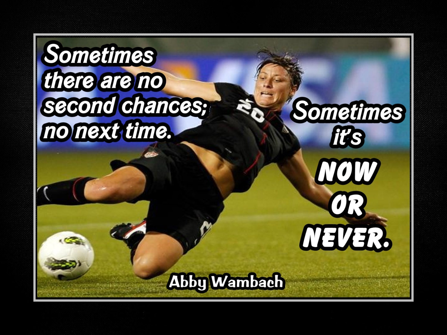 Carli Lloyd Quotes Abby Wambach Girls Soccer Motivational Poster Daughter