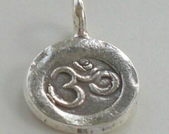 11mm OM Yoga Charm Karen Hill Tribe Fine Silver HT-135