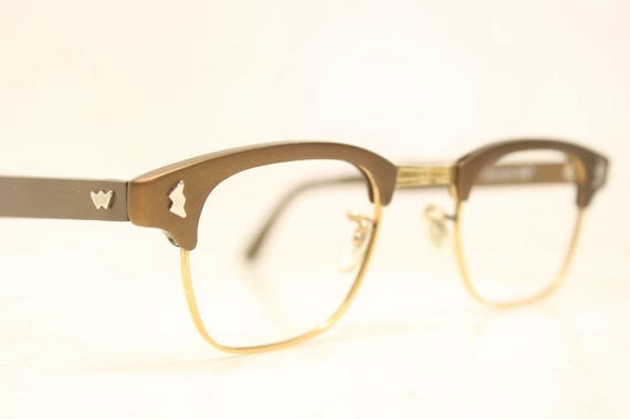 NOS Brown Browline Vintage Eyeglasses 1960s Men Retro Glasses