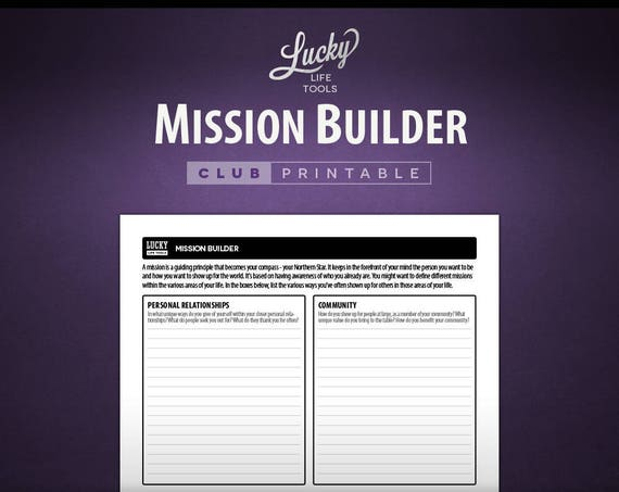 Mission Builder - CLUB Printable Exercise
