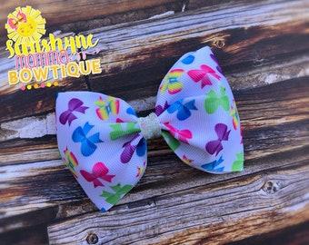Hairbow print bowtie hair bow