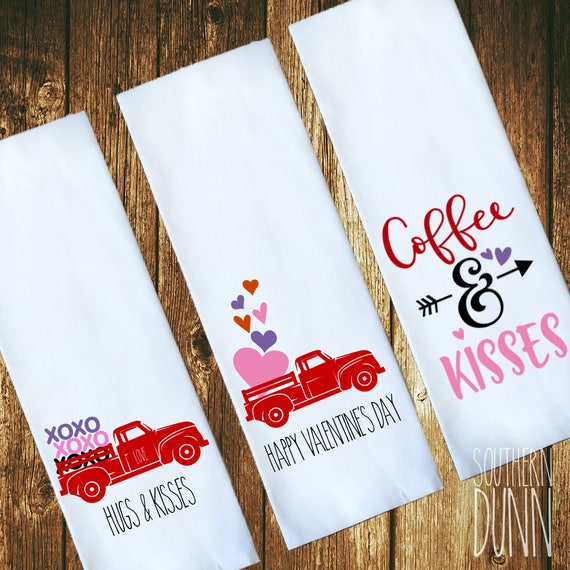 Rae Dunn Inspired Valentines Kitchen Towel