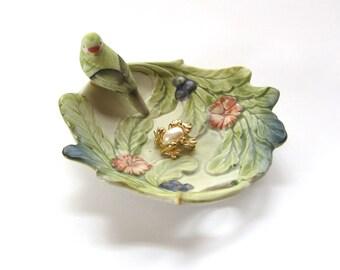 Takahashi Bird | Porcelain Trinket Dish | Bird Dish | Ceramic Jewelry Dish | Takahashi Dish | Ring Dish Holder | Bird Gifts