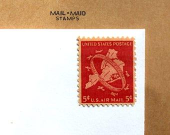 New York City Jubilee || Set of 10 unused vintage airmail postage stamps