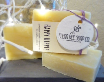 Happy Hippie Vegan All Natural Handcrafted Cold Process Bar Soap