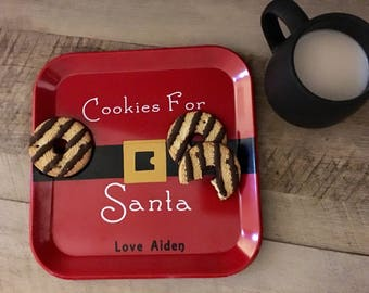 Cookies For Santa - Personalized Plate
